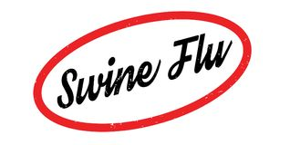 Swine Flu rubber stamp. Grunge design with dust scratches. Effects can be easily removed for a clean, crisp look. Color is easily changed Royalty Free Stock Images