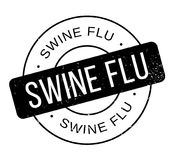 Swine Flu rubber stamp. Grunge design with dust scratches. Effects can be easily removed for a clean, crisp look. Color is easily changed Royalty Free Stock Photos