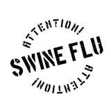 Swine Flu rubber stamp Stock Image