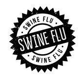 Swine Flu rubber stamp. Grunge design with dust scratches. Effects can be easily removed for a clean, crisp look. Color is easily changed Royalty Free Stock Photo