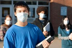 Swine flu at school Royalty Free Stock Image
