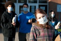 Swine flu at school Stock Photography