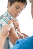 Swine flu shot Royalty Free Stock Image