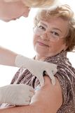 Swine flu shot Stock Photo