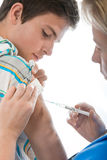 Swine flu shot Stock Photography