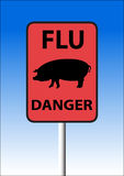Swine flu sign Stock Images