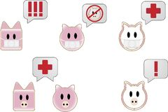 Swine Flu Text Bubbles Stock Photo