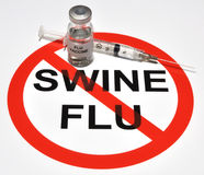 Swine Flu Vaccine. Illustration depicting a no swine flu icon and a mock flu vaccine Royalty Free Stock Photography