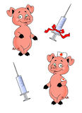 Swine flu vaccine Stock Photo