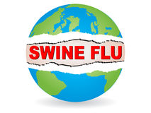 Swine flu virus Stock Photo