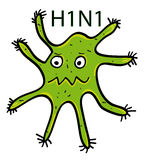 Swine flu virus Stock Photos