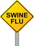 Swine Flu Yellow Road Sign Vector Royalty Free Stock Photos