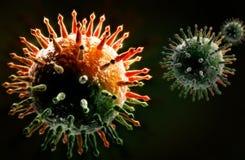 Swine Influenza Virus. Digital illustration of Swine Influenza in colour background Stock Photo