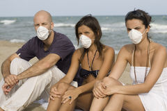 Swineflu on holidays Stock Photo
