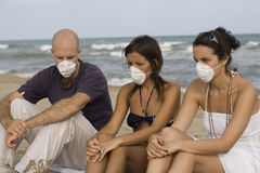 Swineflu on holidays Stock Images