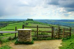 Swineford Viewpoint - United Kingdom. A viewpoint located in Swineford, England which looks out onto Pensford, Bristol and the historic city of Bath Stock Image