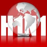 swinevektor för influensa h1n1 royaltyfri illustrationer