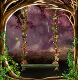 Swing. Fantasy scene for your artistic creations Stock Image