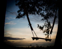 Swing of alone Royalty Free Stock Photos