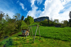 Swing at Alps Stock Images