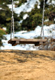Swing. Arm swing in the park Stock Photo