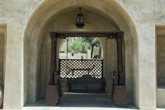 Swing at the Bab Al Shams desert arabian resort view Royalty Free Stock Photos
