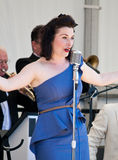 Swing Band Vocalist Stock Image