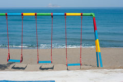 Swing by the beach Stock Image