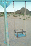 Swing on the beach. Blue  Swing on the beach Stock Photography