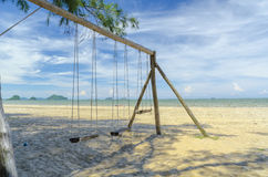 Swing on the beach Royalty Free Stock Photos
