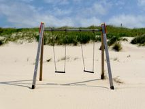 Swing at the beach Stock Photography