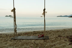 Swing on the beach. Stock Images