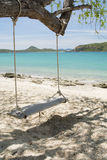 Swing and beach Stock Images