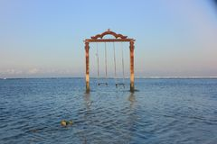 Swing the ocean stock photography