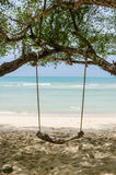 Swing on beach Royalty Free Stock Images