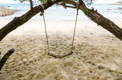 Swing on beach Stock Images