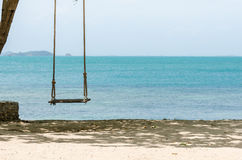 Swing on beach Royalty Free Stock Photo