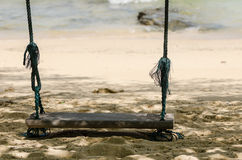 Swing on beach Royalty Free Stock Photos
