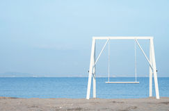 Swing on the beach Royalty Free Stock Photos