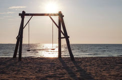 Swing on the beach Royalty Free Stock Images