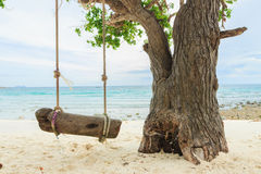 Swing on the beach Royalty Free Stock Photo