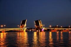 Swing bridge Royalty Free Stock Photo
