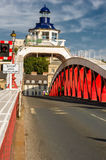 Swing bridge Stock Image