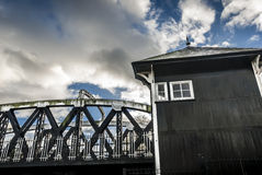 Swing Bridge House Stock Image