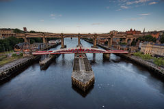 Swing Bridge at Newcastle upon Tyne UK Stock Image