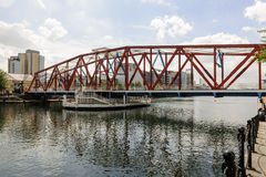 Swing Bridge. Over Manchester ship canal Stock Image