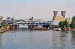 Swing bridge over the Oosterdoksdoorgang, Amsterdam Stock Images