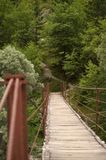 Swing bridge. Over the river Soca in Slovenia Stock Photography