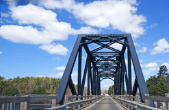 Swing Bridge in Parry Sound Stock Images