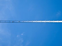 Swing bridge seen from below Stock Photography